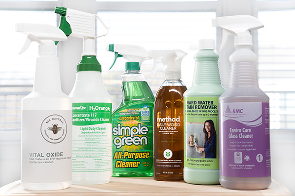 Products Used by Bee Natural Cleaning